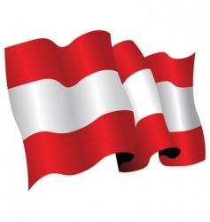 Austria flag vector image