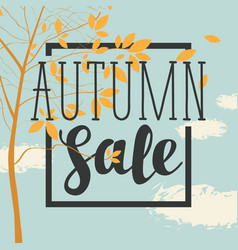 Autumn sale banner with inscription and branches vector