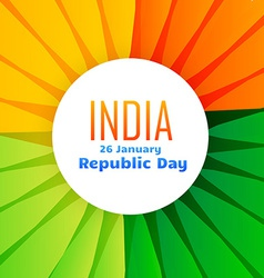 Beautiful indian flag design for 26th january vector