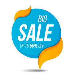 big sale label price tag banner sticker badge vector image