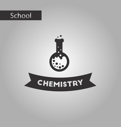 Black and white style icon chemistry lesson vector