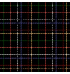 Black checkered tartan seamless fabric texture vector