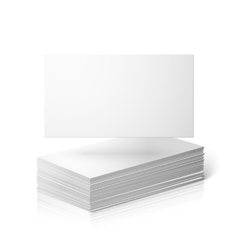 Blank business cards template isolated on vector image vector image