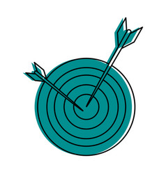 Bullseye or dart board icon image vector