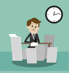 businessman finding himself going to be busy vector image vector image