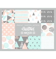 Christmas and new year abstract geometric vector