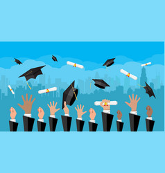 concept of education college university ceremony vector image vector image