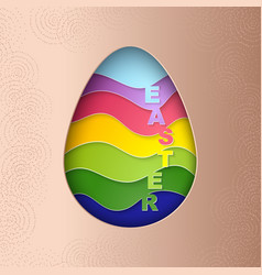 Easter egg with strips pattern texture vector
