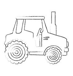 Farm tractor icon vector