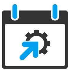 Gear Integration Calendar Day Toolbar Icon vector image vector image