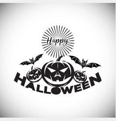 happy halloween logo icon design vector image