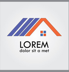 Home roof shape logo vector