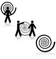 Hypnosis vector image vector image