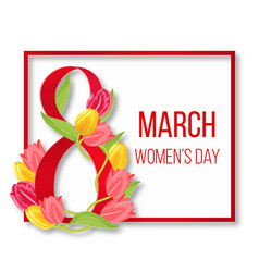 international happy womans day frame women 8 vector image