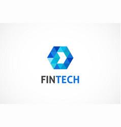 Logo concept for fintech industry vector