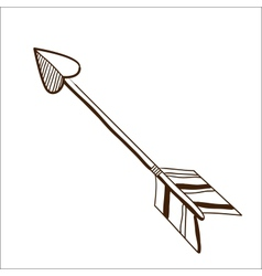 Love arrow isolated on white vector