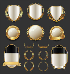 luxury golden labels retro vintage collection 4 vector image vector image