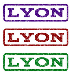 Lyon watermark stamp vector