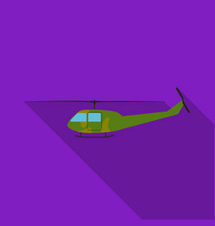 Military helicopter icon in flat style isolated on vector