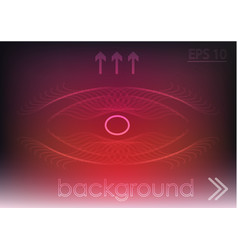 red background and white lines vector image