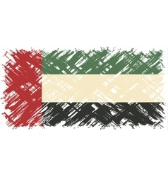 United Arab Emirates grunge flag vector image vector image