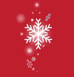 White snowflakes form a beautiful vector image vector image