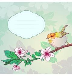 Sparrow on a branch vector