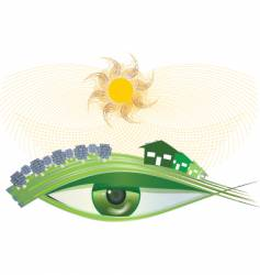 I see green solar vector image