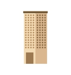 Big building isolated icon vector