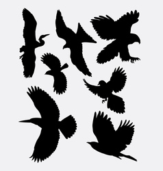 Bird flying animal silhouette 1 vector