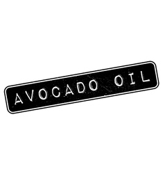 Avocado oil rubber stamp vector
