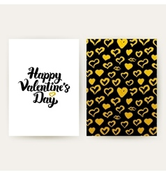 Happy valentines day trendy posters vector