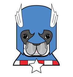 2 superhero symbol as french bulldog character vector image