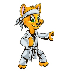 Kitty karate vector