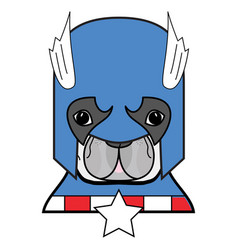 2 superhero symbol as french bulldog character vector