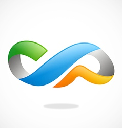 Infinity ribbon technology logo vector
