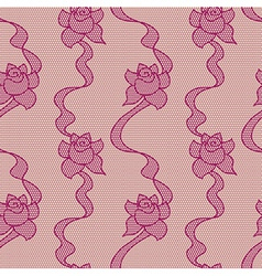 Purple lace fabric seamless pattern vector