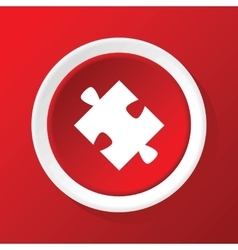 Puzzle piece icon on red vector