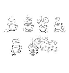 coffee cup symbols vector image