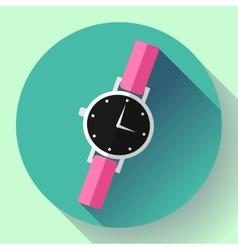 Wrist watches smart clock icon vector