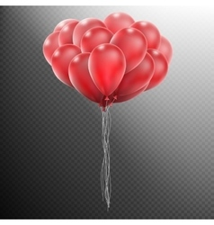 Realistic red balloons eps 10 vector