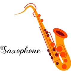 Saxophone musical instrument vector