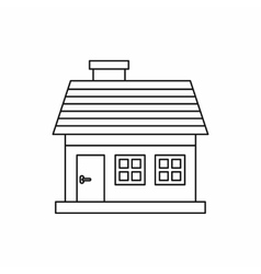 Cottage icon in outline style vector