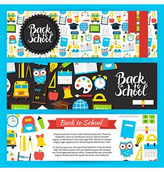 Back to School Horizontal Banners vector image vector image