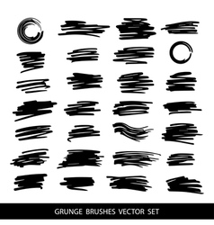 Big set of grunge brush strokes vector image vector image