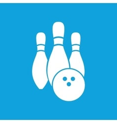 Bowling icon simple vector