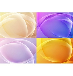 Bright abstract halftone backgrounds collection vector image vector image