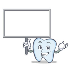 bring board tooth character cartoon style vector image