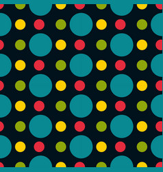 Colored polka dot seamless pattern vector