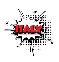 Comic text italy sound effects pop art vector